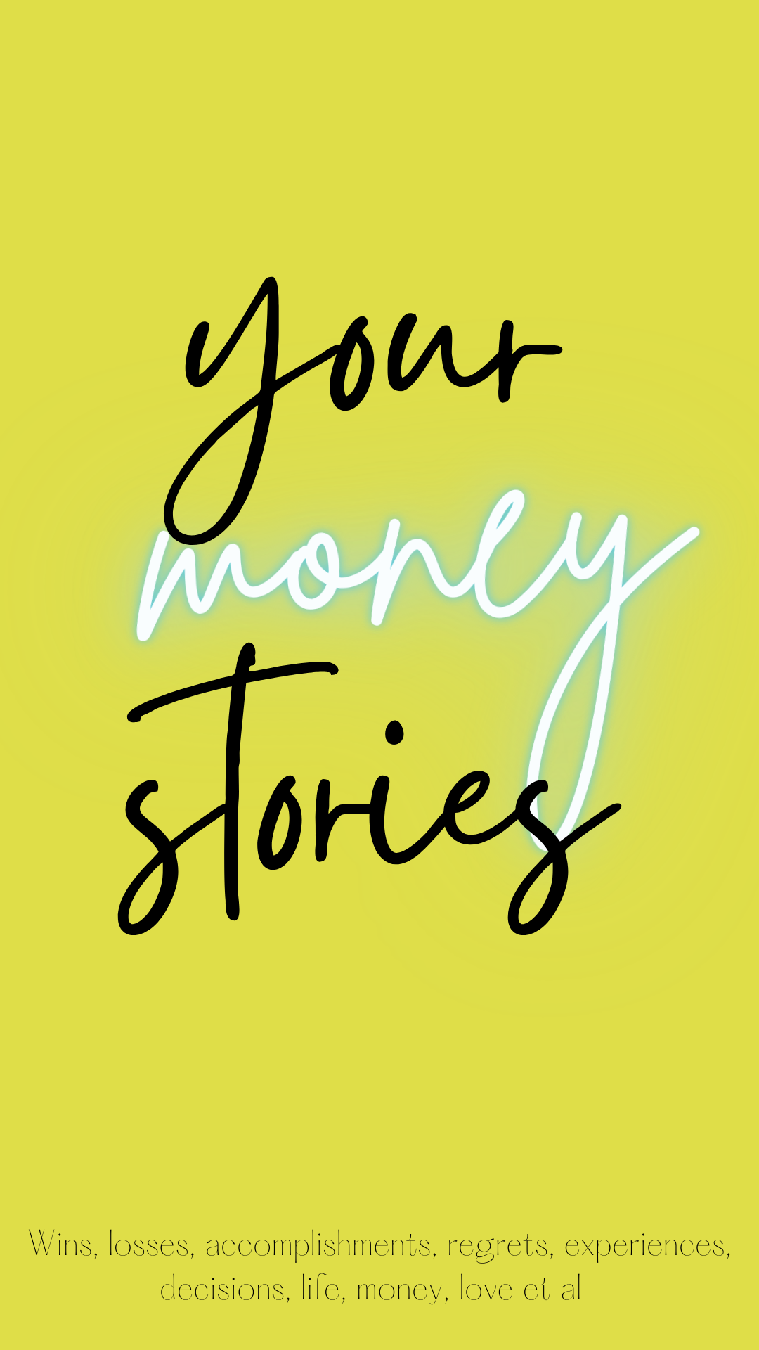 Your money stories